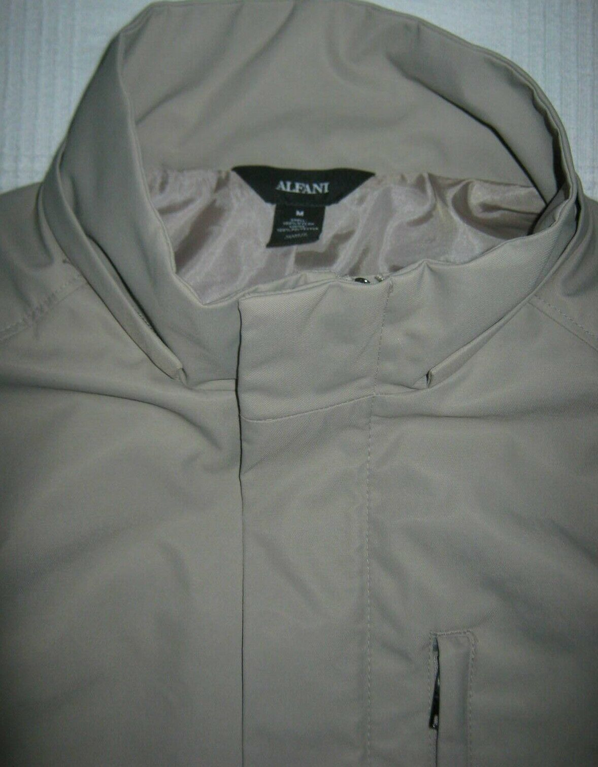 Alfani Mens Full-Zip Jacket with Removable Hood NWT Stand Collar Snap Closures M