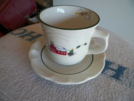 Pfaltzgraff Snow Village cup and saucer 16 available - $3.12