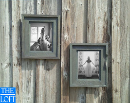 """Antique Washed Gray Floating Frame 3.5""""--(All Sizes) -The Loft Signature Handcra - $40.00"""