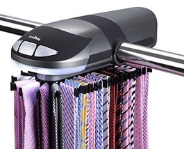 Primode Motorized Tie Rack, Rotation operates with batteries and LED Lights