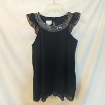 PIPER GIRLS BLACK SHEER DRESS /SZ 6-6X - $11.30