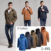 Men Fashion Sportswear Thin Windbreaker Zipper Coats Outwear Hooded Jackets - $54.88
