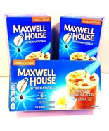 (Lot of 3) Maxwell House French Vanilla Iced Latte Beverage Mix (18 Pack... - $16.82
