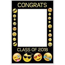 Class of 2018 Graduation Emoji Selfie Frame Party Photo Prop Poster - £12.38 GBP