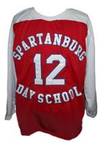 Zion Williamson Spartanburg Day School Hockey Jersey New Red Any Size image 1