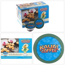 Vanilla Macadamia Nut Coffee 72 Count Single Cups Arabica Coffee Medium ... - $69.89