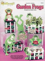 Garden Frogs Planter Set Tissue Doorstop Plastic Canvas PATTERN/INSTRUCT... - $5.37