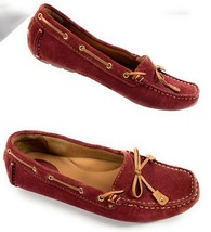 Clarks Artisan Dunbar Racer Driving Moccasin Shoes Red Cranberry Suede W... - $26.57