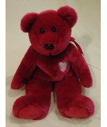 Ty 58-52ty * Beanie Buddies Magenta Bear 14in Plastic Fabric - $10.06
