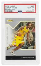Lebron James 2004 Finest #23 Cavaliers Refractor Card PSA Gem Mint 10 - $8,870.39