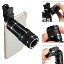Universal 12X Zoom Optical Clip Telephoto Telescope Camera Lens Tablet Cell - $27.50