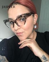 JASPEER Retro Cat Eye Glasses Frame Half Frames Female Brand Designer Eye Glasse image 2