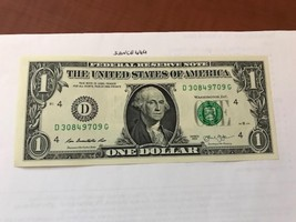 USA United States $1.00 banknote 2013 #3 - $3.50
