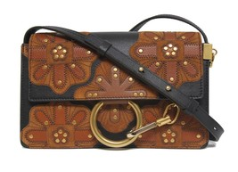 New $1990 Chloe Small Faye All Over Flower Leather & Suede Bag - $978.04