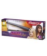 "Red by Kiss Ceramic Tourmaline Professional Hair Flat Iron 1"" Max 450F #... - $24.74"