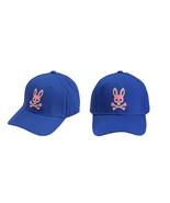 Psycho Bunny Men's Strapback Two Tone Skull Logo Deep Royal Baseball Cap Hat - $32.66