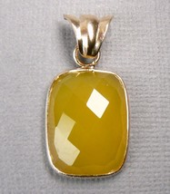 Briolette Yellow Agate 18K Rose Gold over Sterling Silver Pendant - $22.05