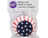 Standard Baking Cups-Red, White, and Blue 75/Pkg