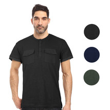 Seven Souls Men's Lightweight Slim Fit Casual Henley Fashion T-Shirt MT16176 image 1