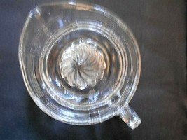 Vintage Clear Glass Citrus Reamer Juicer with Spout and Handle - $9.89