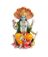 PTC 8 Inch Vishnu with Lotus Mythological Indian Hindu God Statue Figurine - $51.47