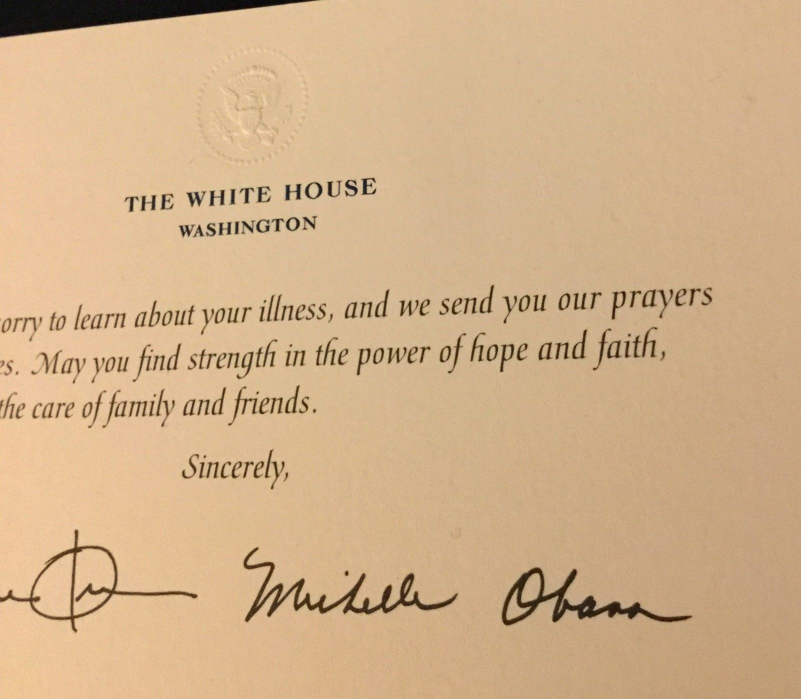 Obama white house 50th anniversary greetings and 50 similar items obama white house 50th anniversary greetings card michelle signd president eagle m4hsunfo