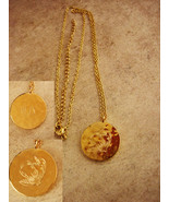 Religious necklace  - Hammered golden He Is Pendant - gift of faith - ba... - $45.00