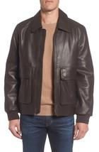 Front Pocket Men's Genuine Lambskin Leather Jacket Slim fit Biker e jacket - $142.50