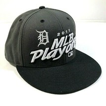 2011 MLB Playoffs Postseason White Black Snapback Hat Detroit Tigers - $14.03