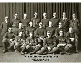 1918 Michigan 8X10 Team Photo Wolverines Ncaa Football National Champs - $3.95
