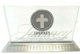 Plaque Religious Scripture Bible Quote Jeremiah Journey Acrylic Desk She... - $15.74
