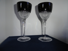 Faberge  Black Crystal  Goblets without Faberge Box - $425.00