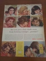 Vintage 1965 Miss Clairol Life Magazine Ad - $9.95
