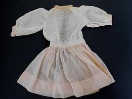 Vintage White & Pink Swiss Dot Dress for Medium... - $18.99