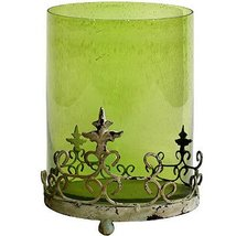 """FantasticDecor Glass Hurricane Candle Holder w/Stand Green 15"""" - $79.19"""