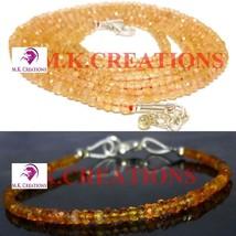 "Natural dark citrine 3-4mm Beads Beaded 22"" Necklace 7"" Bracelet Jewelry Set - $34.88"