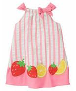 Gymboree STRAWBERRY SWEETHEART Seersucker SunDress Dress 3T Pink Stripe ... - $24.26