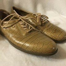 EASY SPIRIT Size 10AA Tan Leather Reptile Anti-Gravity Sneakers Walking ... - €14,22 EUR