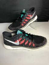NIKE FREE 5.0 Running Gym Fitness Shoes Black Hyper Jade Galaxy Womens S... - $34.65