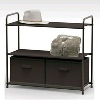 3 Tier Closet Organizer System Shelves Draws Bins Entryway Shoe Rack Sto... - $30.99