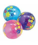 tkpartysupplies4u 12 Mini Beach Balls Hibiscus Luau Pool Birthday Party ... - $19.21
