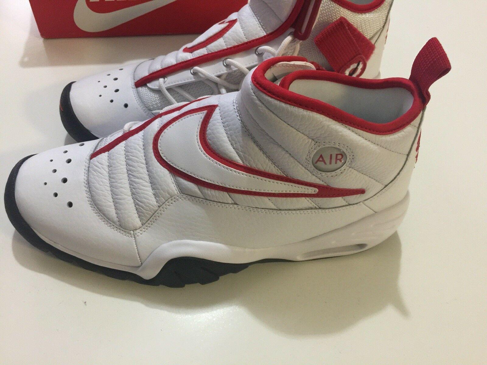 Nike Air Shake Ndestrukt Men's Basketball Shoes White/Red 880869 100 Size 11 image 6
