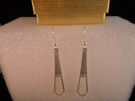 International Ancestral 1923 Earrings Vintage Silverplate - $57.91
