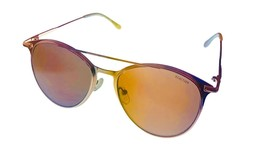 Kenneth Cole Reaction Mens Gold Sunglass Round Metal Brown Lens KC1353. 32E - $17.99