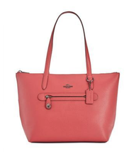 Coach NWT Taylor Large Top Zip Pebble Leather Tote Shoulder Bag Washed Red - $132.03