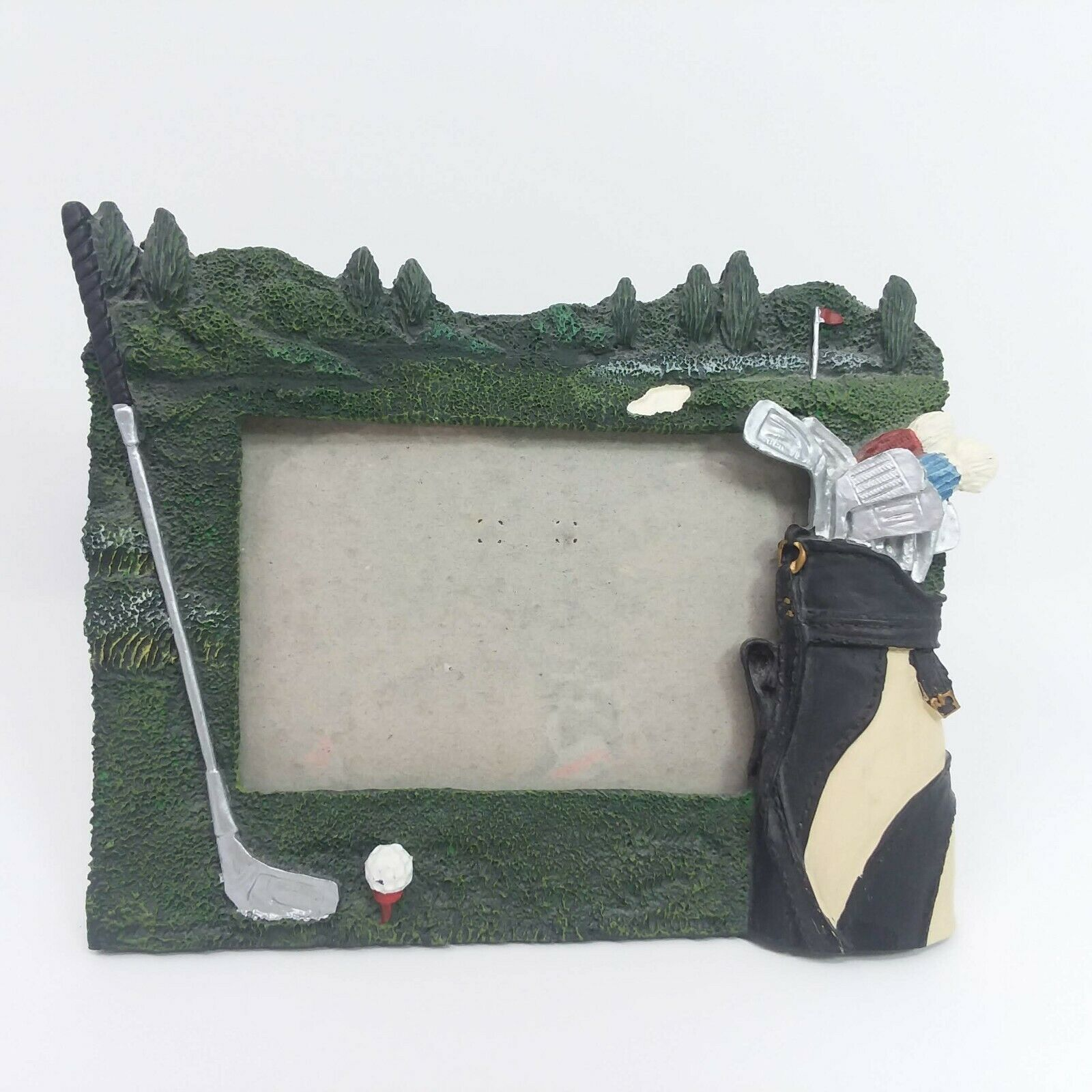 Primary image for Golf Bag Club Theme 5 x 7 Picture Frame 3D Design Horizontal Photo
