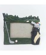Golf Bag Club Theme 5 x 7 Picture Frame 3D Design Horizontal Photo  - $9.46