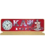 KAPPA ALPHA PSI FRATERNITY Wood Desktop Clock Domed Desktop Clock - $53.90