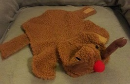 PET HOLIDAY Rudolph the red nosed Reindeer Brown DOG costume size XS EXT... - £6.02 GBP