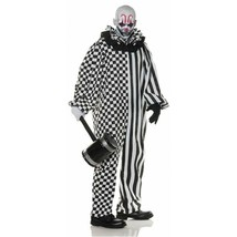 Underwraps Chaos Clown a Scacchi a Righe da Uomo Adulto Costume Halloween 30187 - $37.85+
